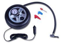 Mini compressor 12V | Met manometer - Incl. 3 adapters