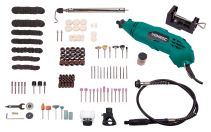 ROTARY MULTI TOOL 160W SET WITH FLEXIBLE SHAFT AND 232 PCS ACCESSORY