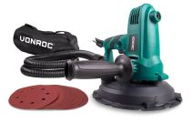 Drywall Sander 750W - 180mm | Incl. dust collection bag and sanding paper