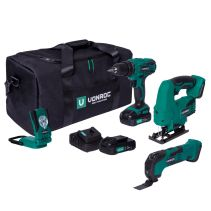 Tool set VPower 20V - 2.0Ah   Incl. 3 machines, 2 batteries and charger
