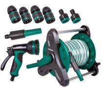 Hose reel with 10m garden hose | Incl. 3 hand nozzles